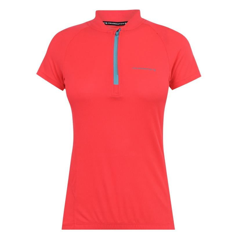 Muddyfox Cycling Short Sleeve Jersey Ladies Coral/White