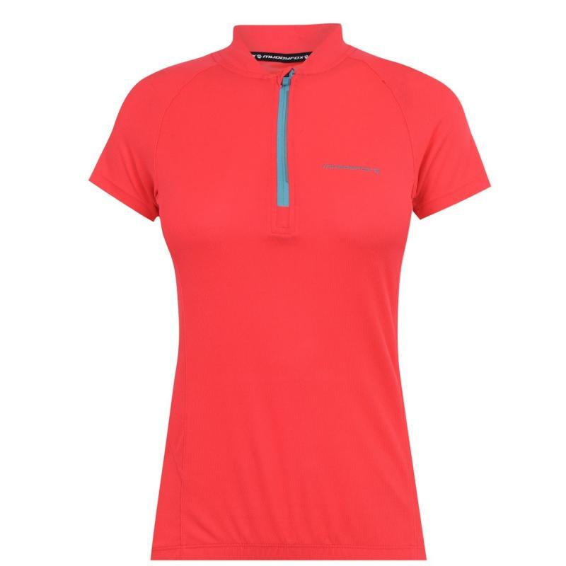Muddyfox Cycling Short Sleeve Jersey Ladies Coral/White