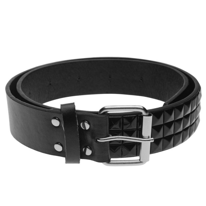 Pulp 3 Row Stud Belt Mens Black/Black