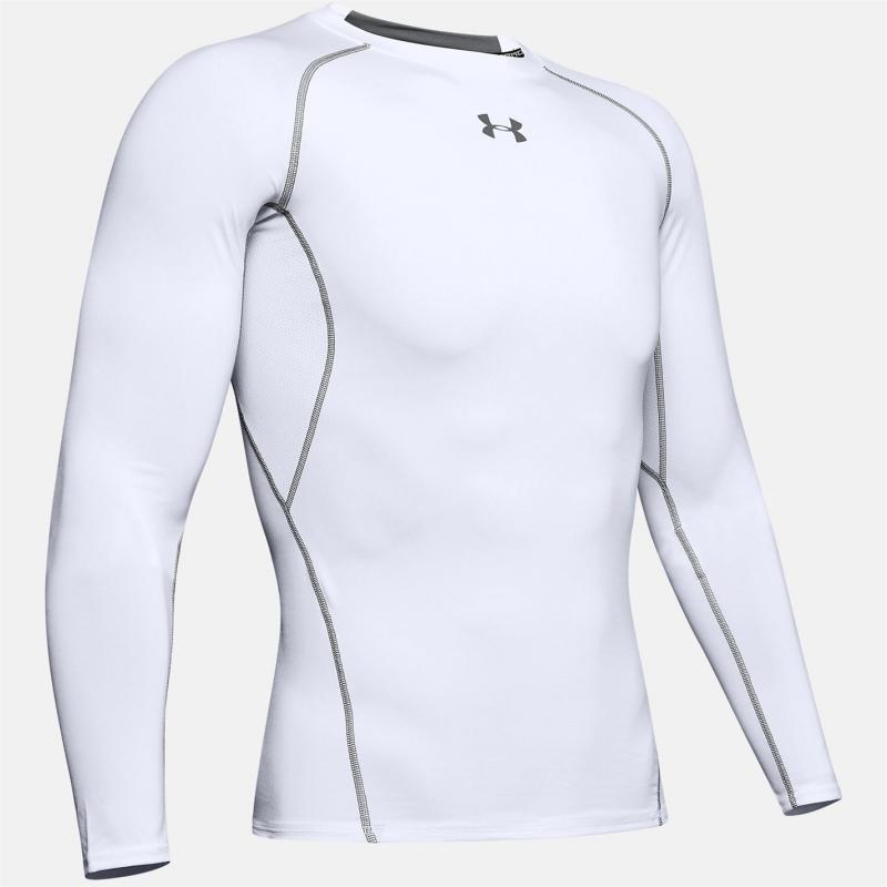 Under Armour HeatGear Core Long Sleeve Baselayer Mens White