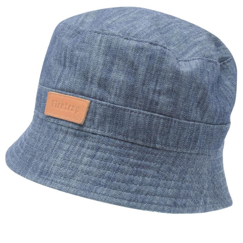 Firetrap Denim Bucket Hat Adults Dk Denim