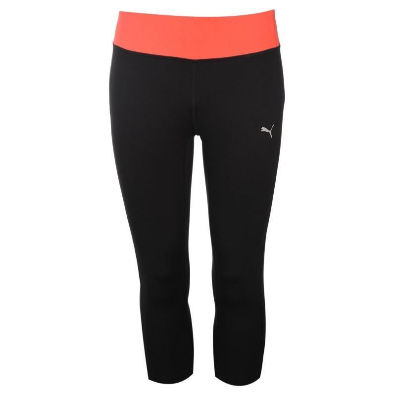 Puma Essential Three Quarter Tights Ladies Black/Pink