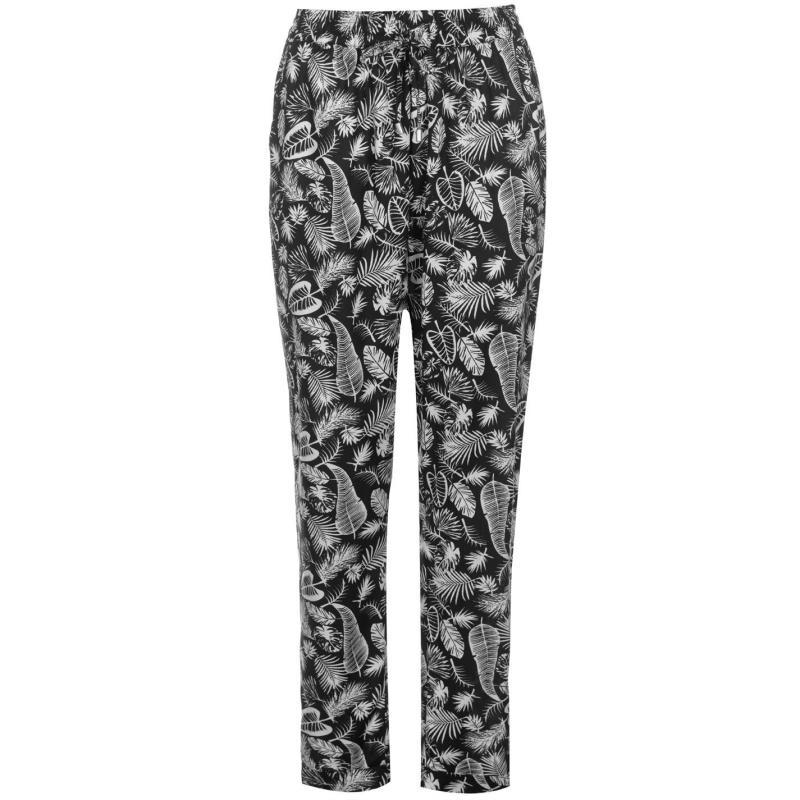 Kalhoty Golddigga AOP Pants Ladies Black/White AOP