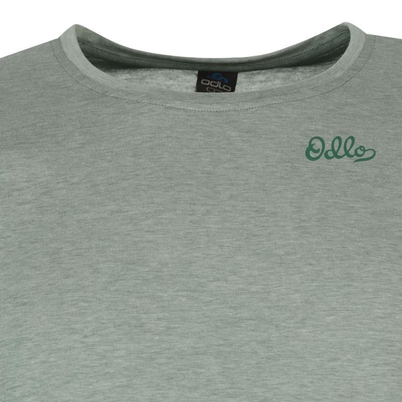Tričko Odlo Logo T Shirt Mens Green