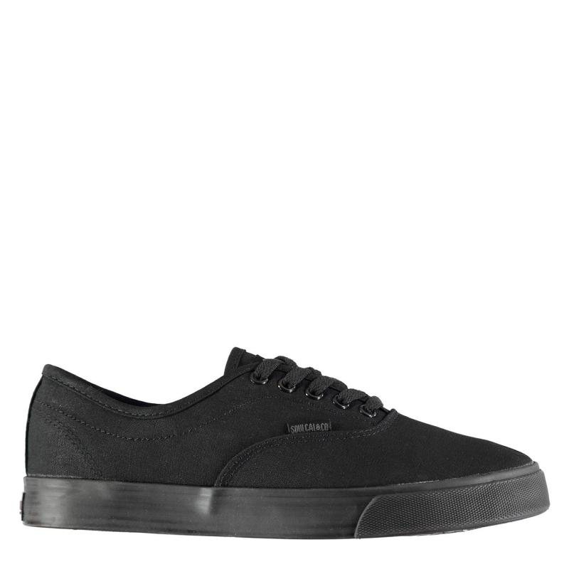 Boty SoulCal Sunset Lace Mens Canvas Shoes Black/Grey