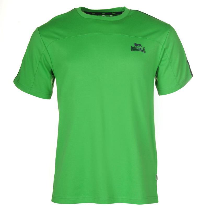 Tričko Lonsdale 2 Stripe Short Sleeve T Shirt Mens BrGreen/Navy