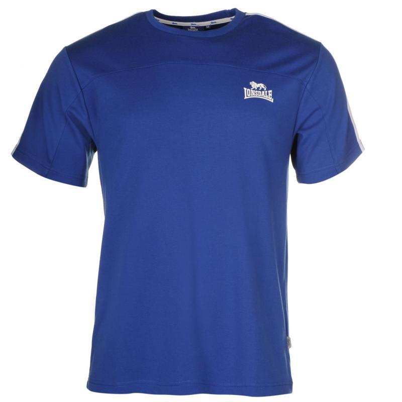 Tričko Lonsdale 2 Stripe Short Sleeve T Shirt Mens BrBlue/White