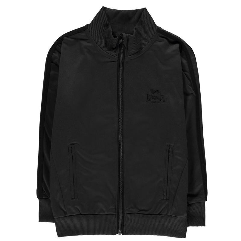 Tepláky Lonsdale Track Jacket Junior Boys Charcoal/Black