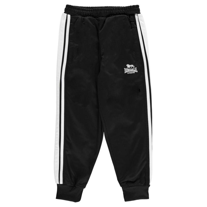 Tepláky Lonsdale Tracksuit Pants Junior Boys Black/White