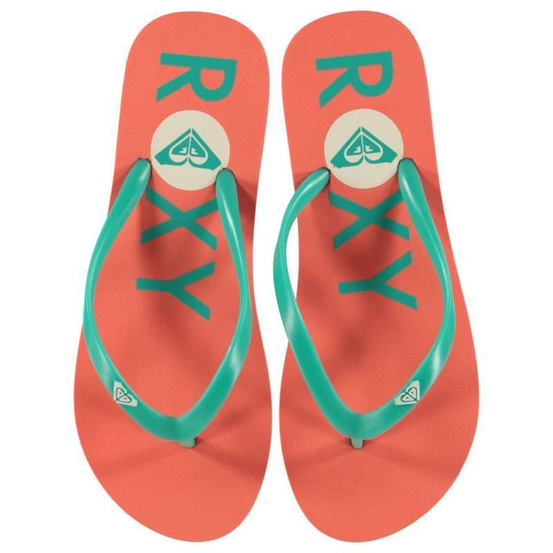 Obuv Roxy Logo Flip Flops Ladies Coral