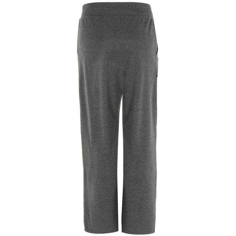 Sportovní kalhoty Everlast Interlock Pants Ladies Charcoal