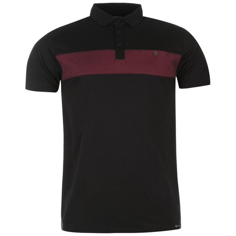 Firetrap Charter Polo Shirt Mens Dk Navy/Grape