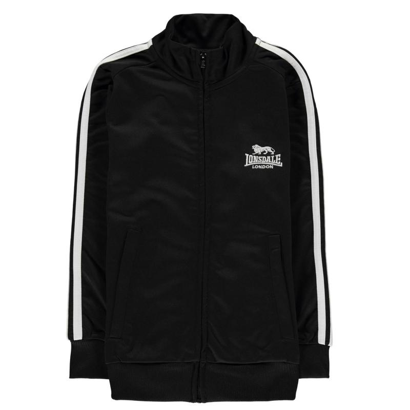 Tepláky Lonsdale Track Jacket Junior Boys Black/White