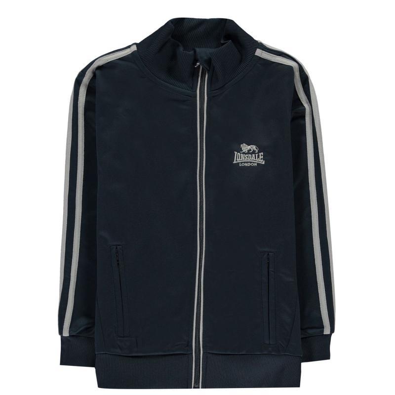 Tepláky Lonsdale Track Jacket Junior Boys Navy/White