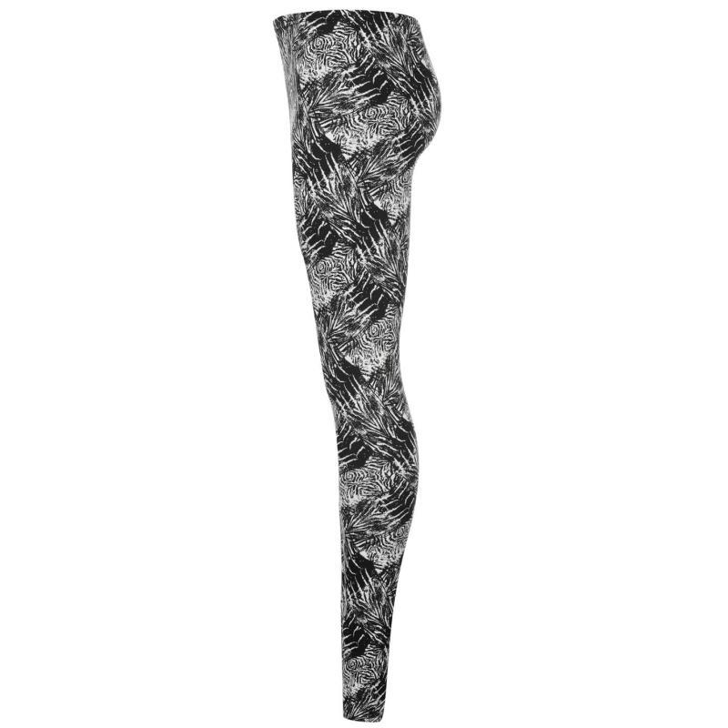 Legíny Golddigga All Over Print Leggings Ladies Black/White Zeb
