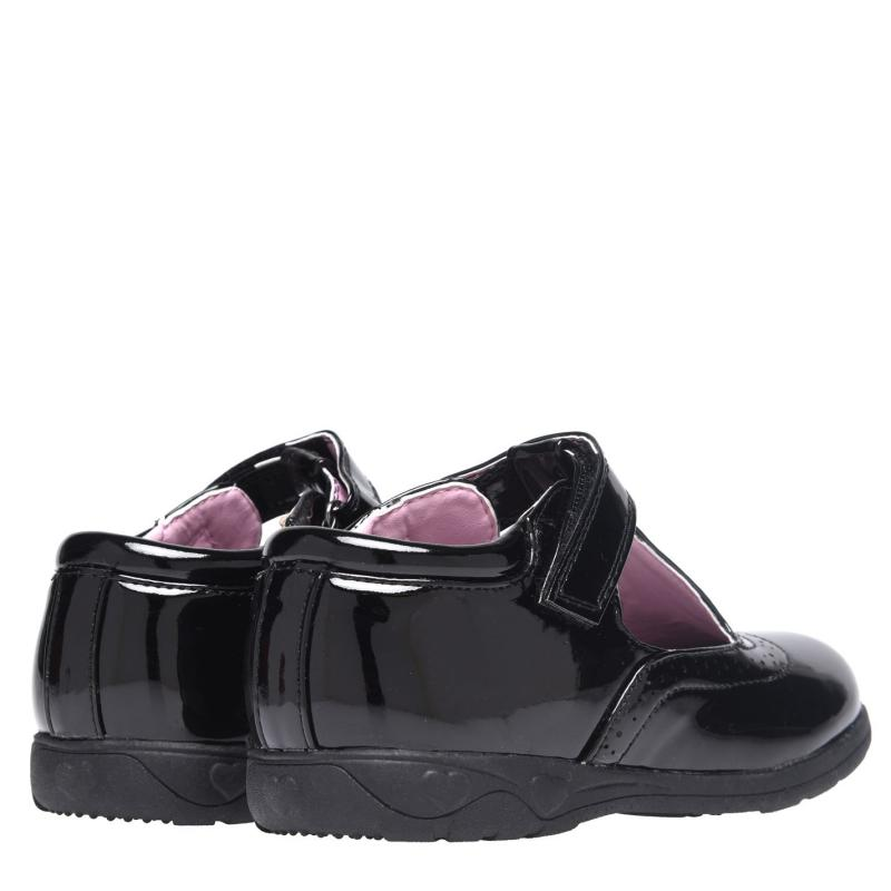 Miss Fiori Tara T Bar Girls Shoes Black/Patent