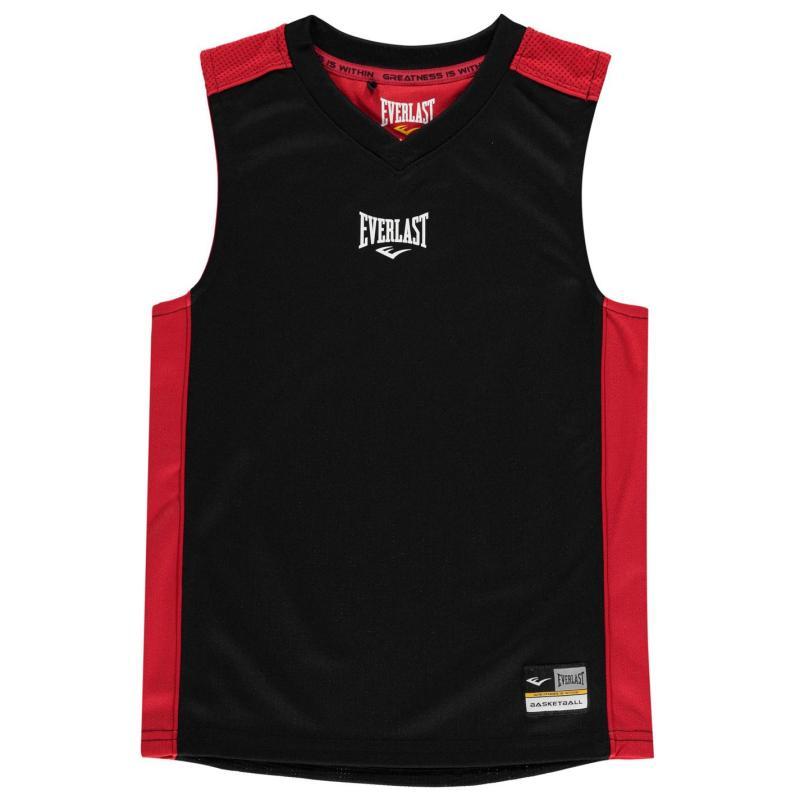 Tílko Everlast Basketball Jersey Junior Boys Black/Red