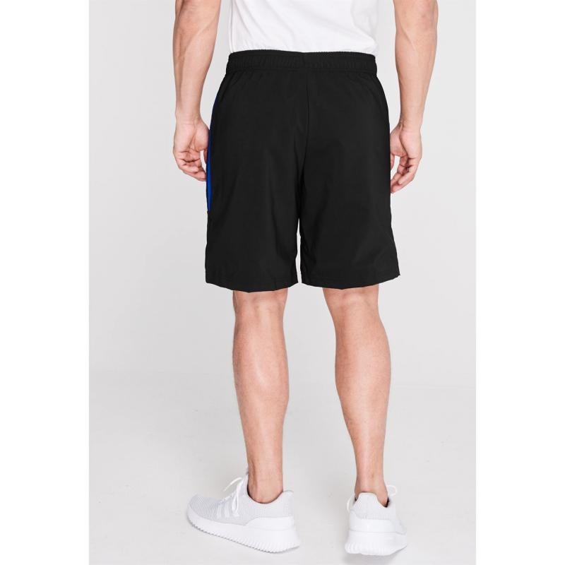 Adidas Mens Sports 3-Stripes Shorts Blk/BrightRoyal