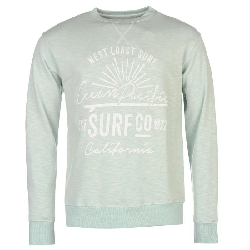 Mikina Ocean Pacific Slub Crew Sweater Mens Blue Marl