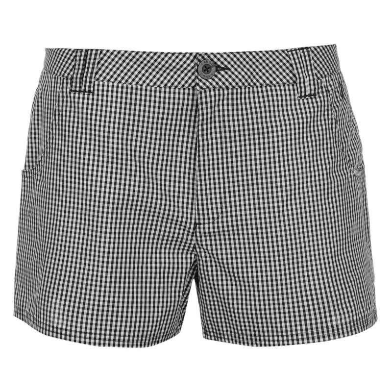 Šortky Kangol Gingham Shorts Ladies White/Navy