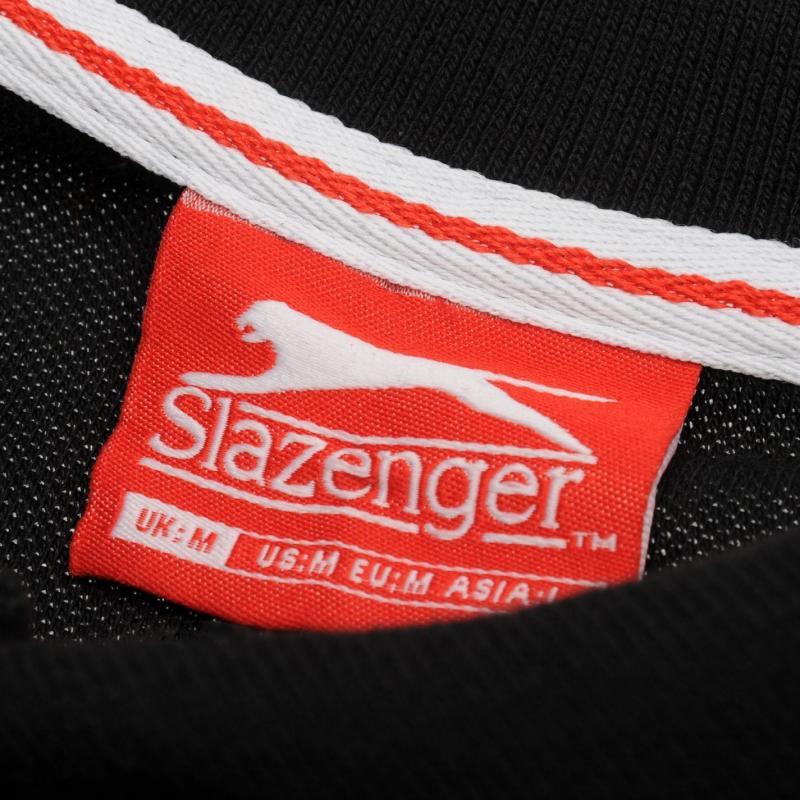 Slazenger Plain Polo Shirt Mens Denim Marl