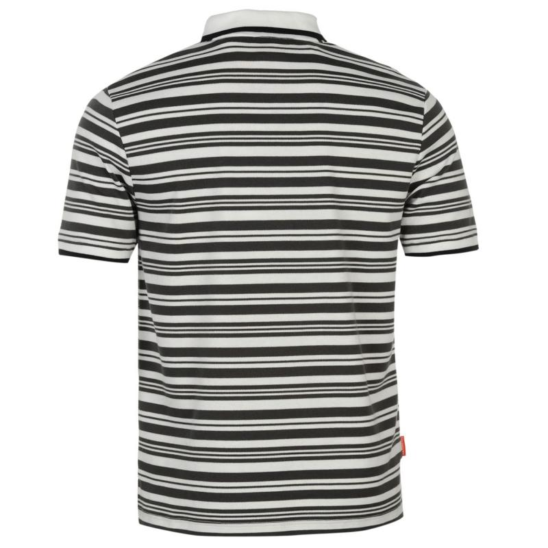 Slazenger Interlock Yarn Dye Polo Shirt Mens White 2
