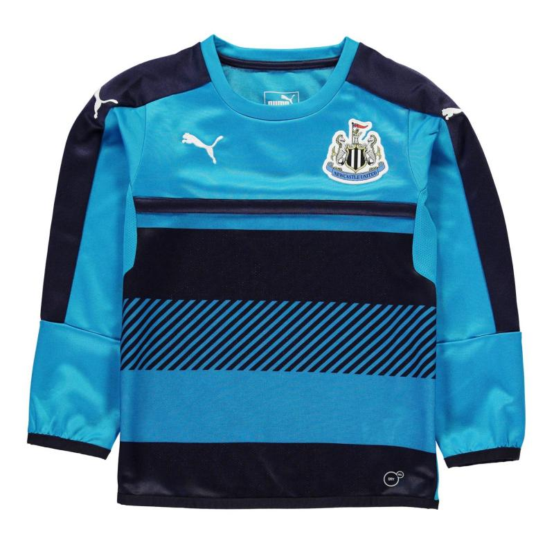 Puma Newcastle United Sweat Tops Junior Navy/AtomicBlue