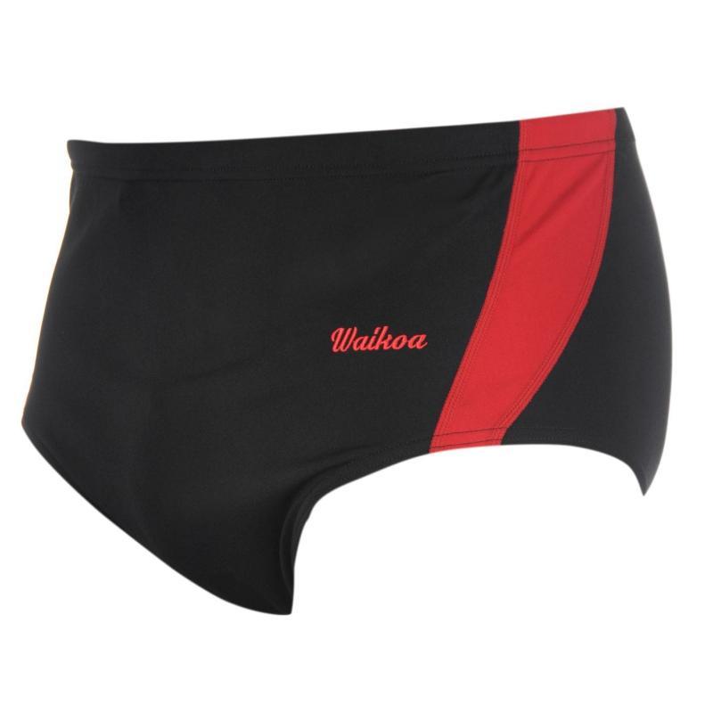 WaiKoa 15cm Swimming Brief Mens Black/Red