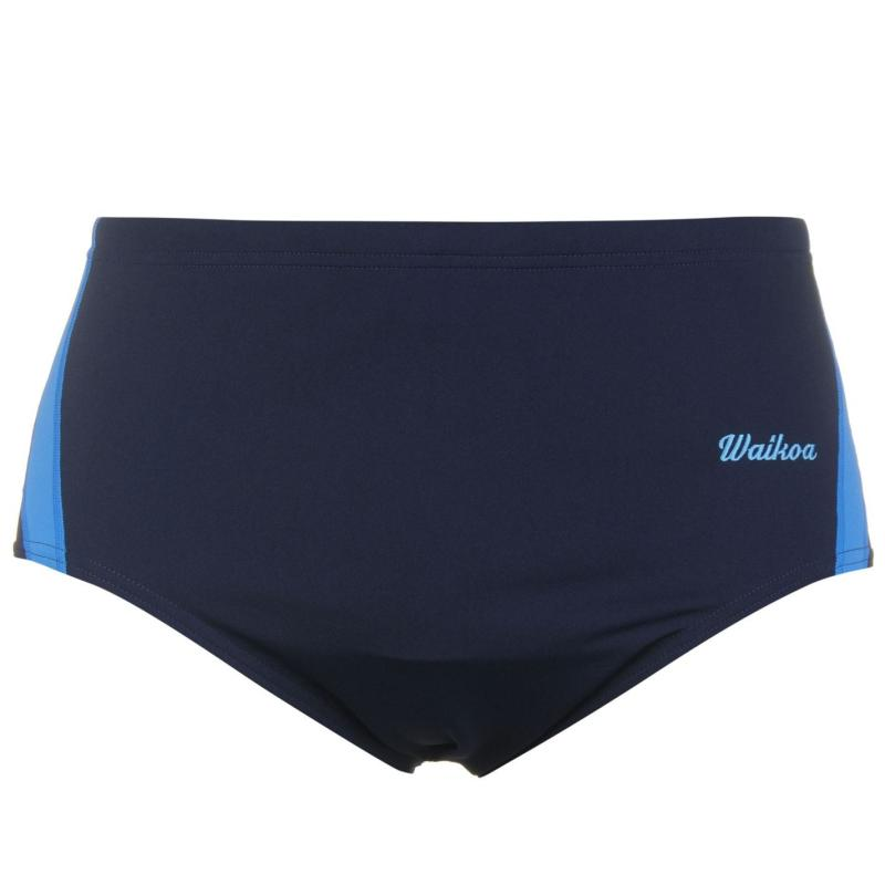 WaiKoa 15cm Swimming Brief Mens Navy/Blue