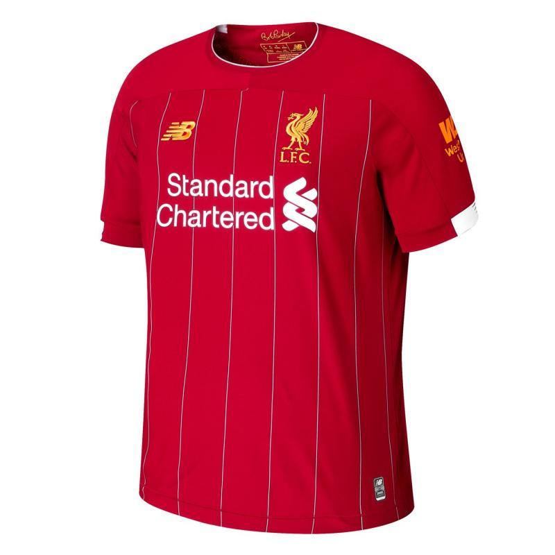 New Balance Liverpool Virgil van Dijk Home Shirt 2019 2020 Red