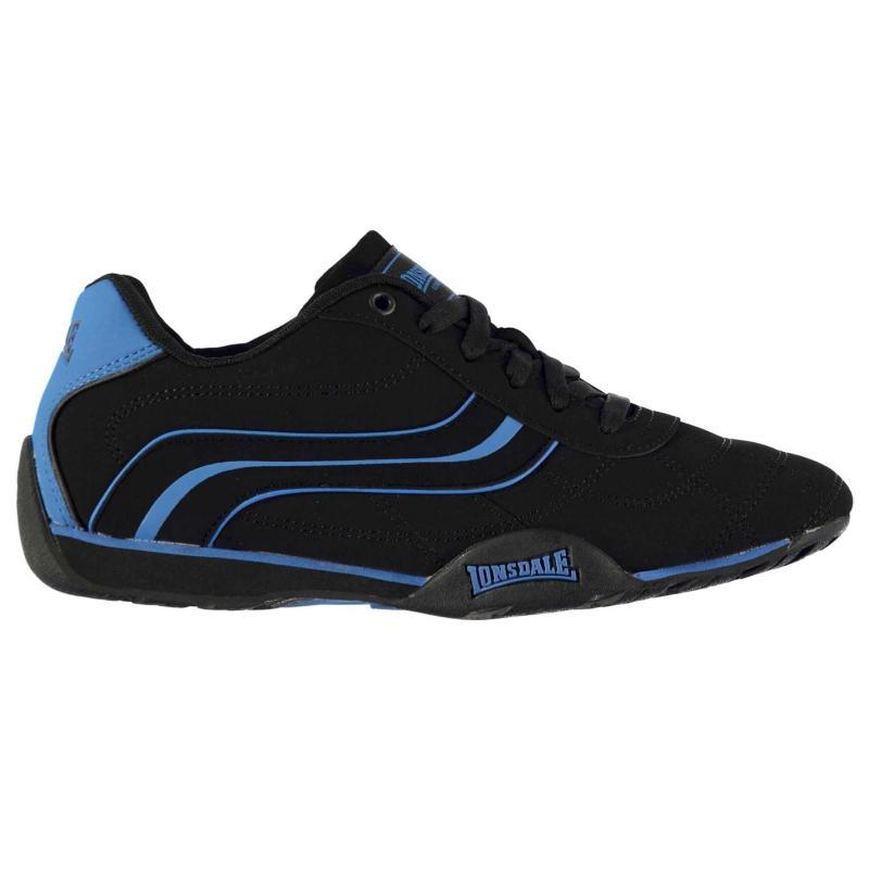 Lonsdale Camden Mens Trainers Black/Blue