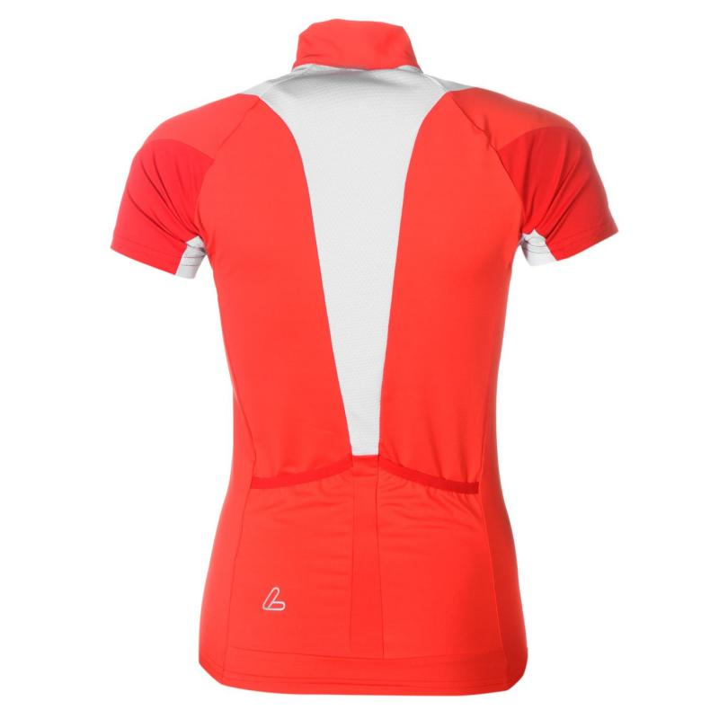 Löffler Cycle Jersey Top Ladies Red/White