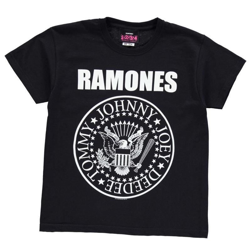 Tričko Official Ramones T Shirt Junior Black