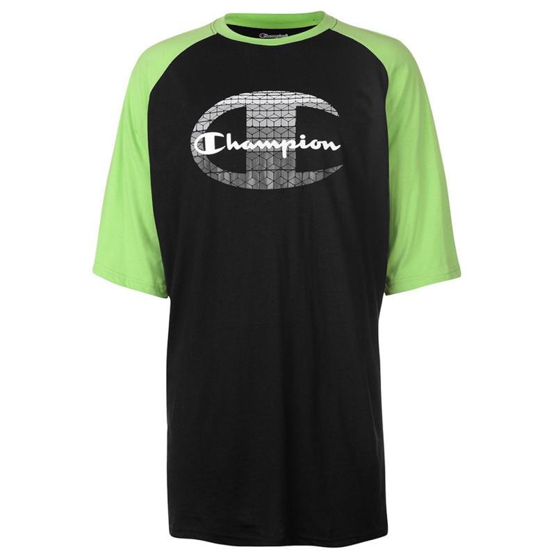 Tričko Champion Raglan Sleeve T Shirt Mens Black