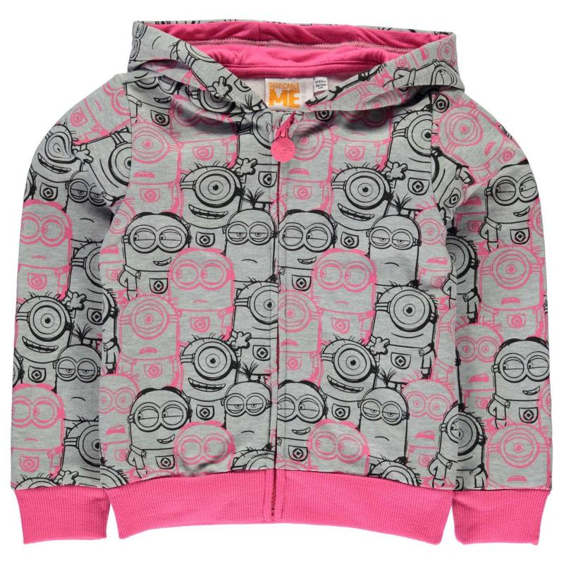 Character Zip Hoody Infant Girls Minions