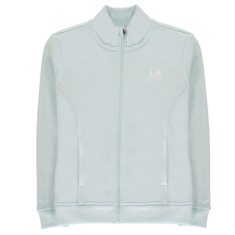 LA Gear Full Zip Fleece Junior Girls Pale Blue