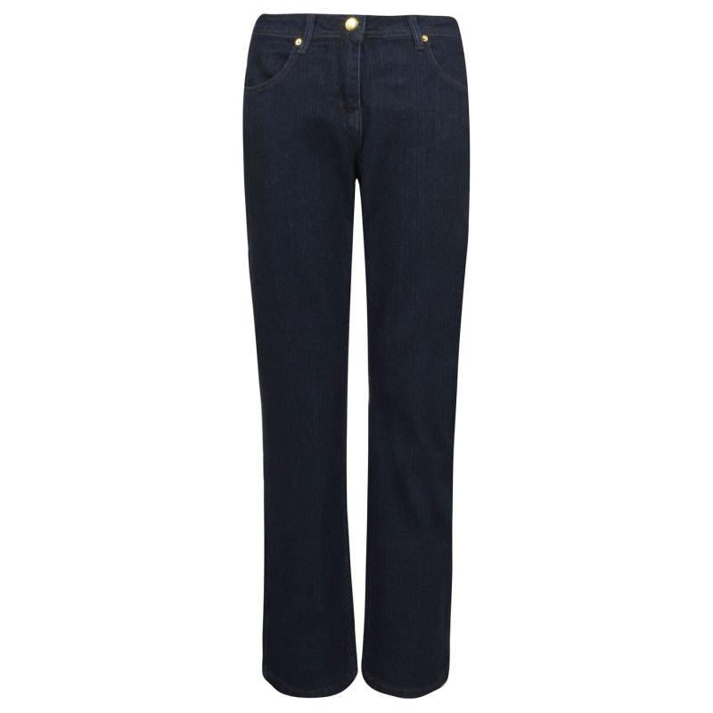 M Collection Straight Leg Jeans Ladies Indigo
