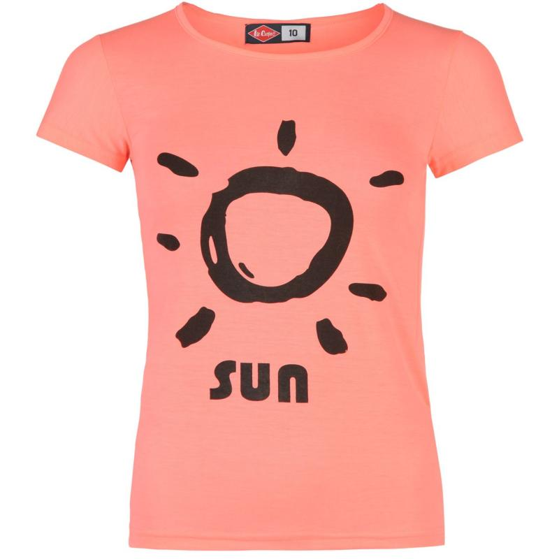 Lee Cooper Sun T Shirt Ladies Pink