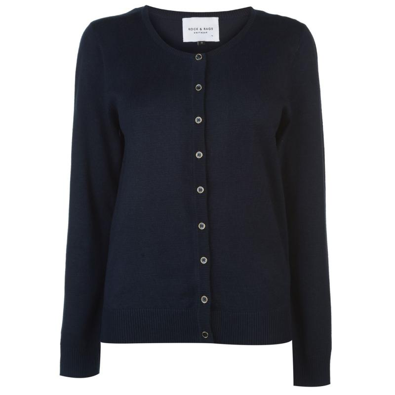 Svetr Miso Crew Cardigan Ladies Navy