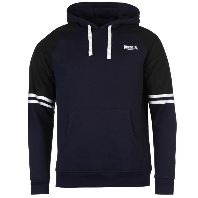 Mikina Lonsdale Heavy Over The Head Hoody Mens Navy