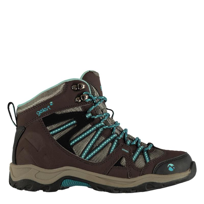 Boty Gelert Ottawa Mid Ladies Walking Boots Brown/Teal