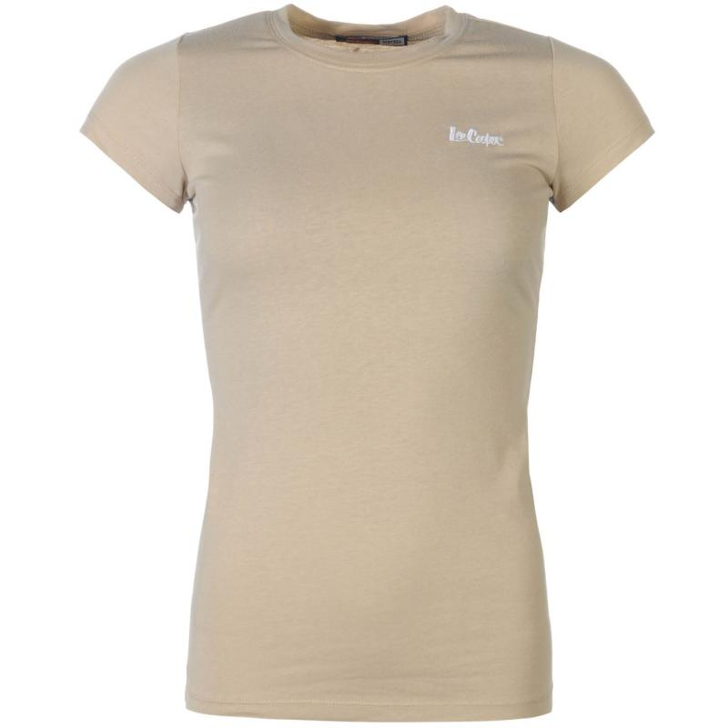 Šaty Lee Cooper Crew Neck T Shirt Ladies Khaki