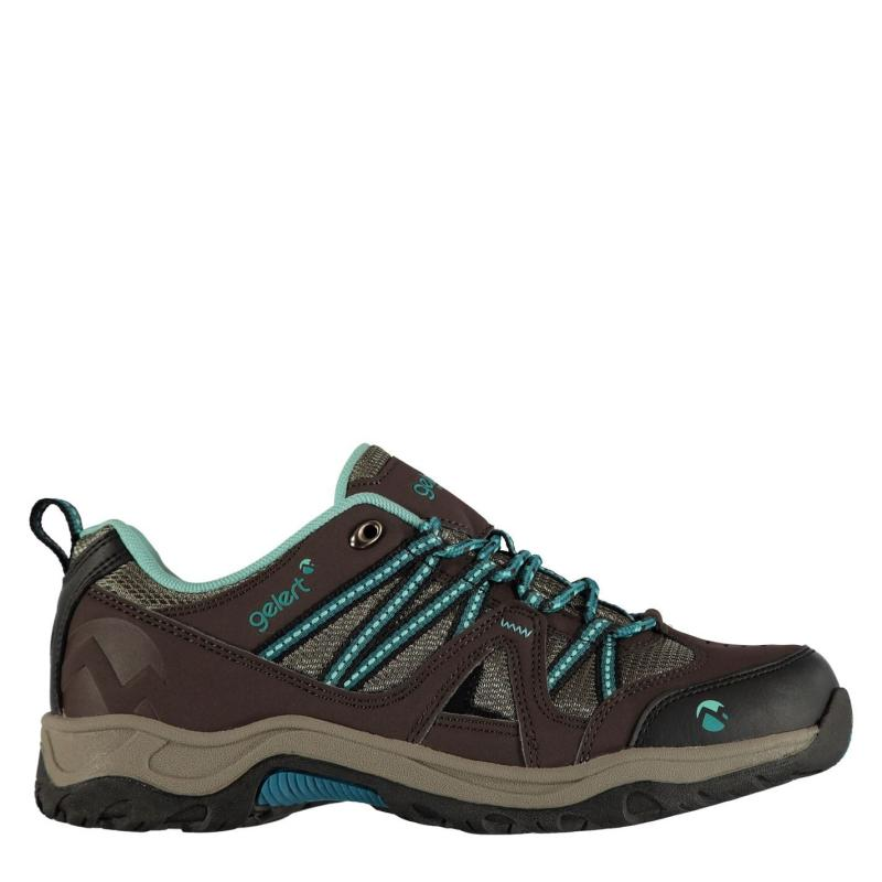 Boty Gelert Ottawa Low Ladies Walking Shoes Brown/Teal