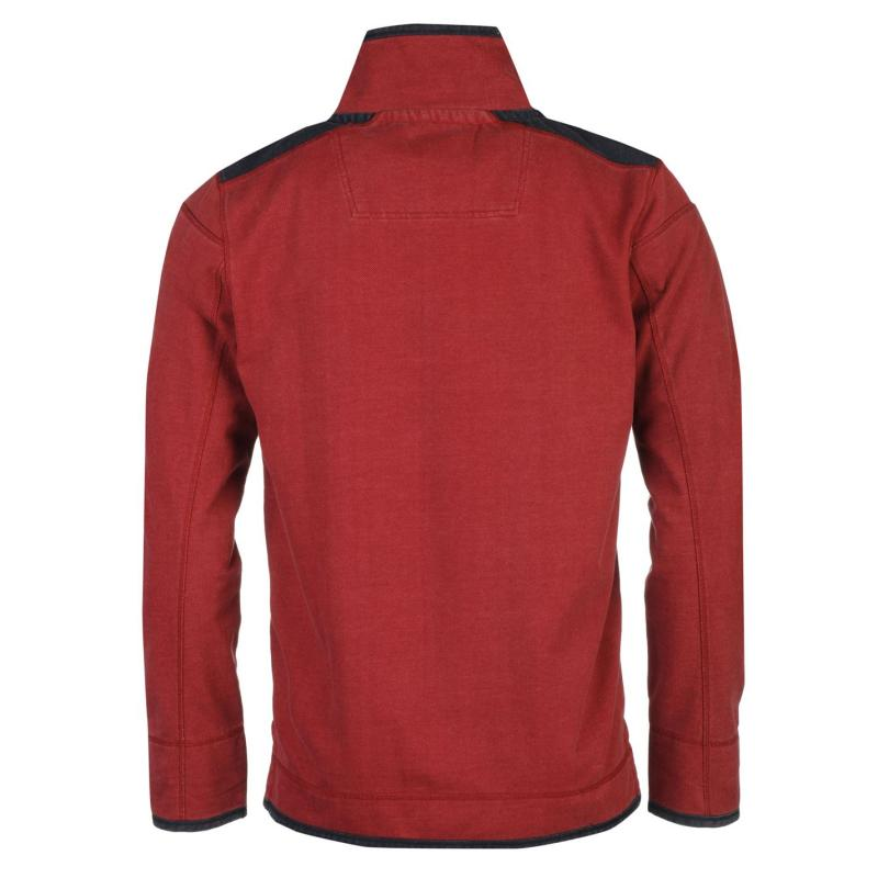Mikina Ocean Pacific Quarter Pique Sweater Mens Red