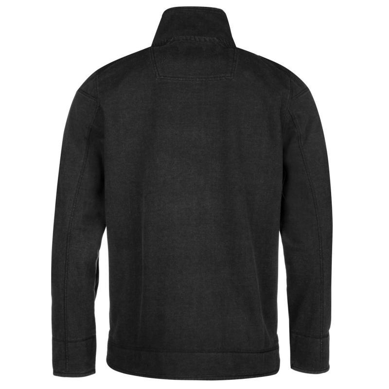 Mikina Ocean Pacific Quarter Pique Sweater Mens Charcoal