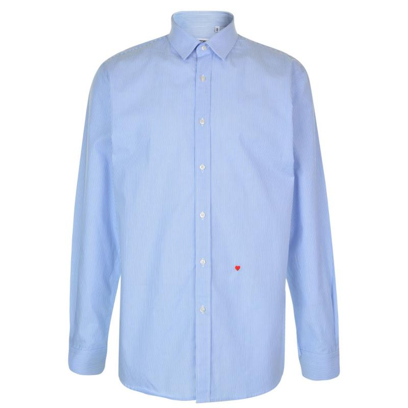 Moschino Sleeved Shirt 9 BBlue/Wht Stp
