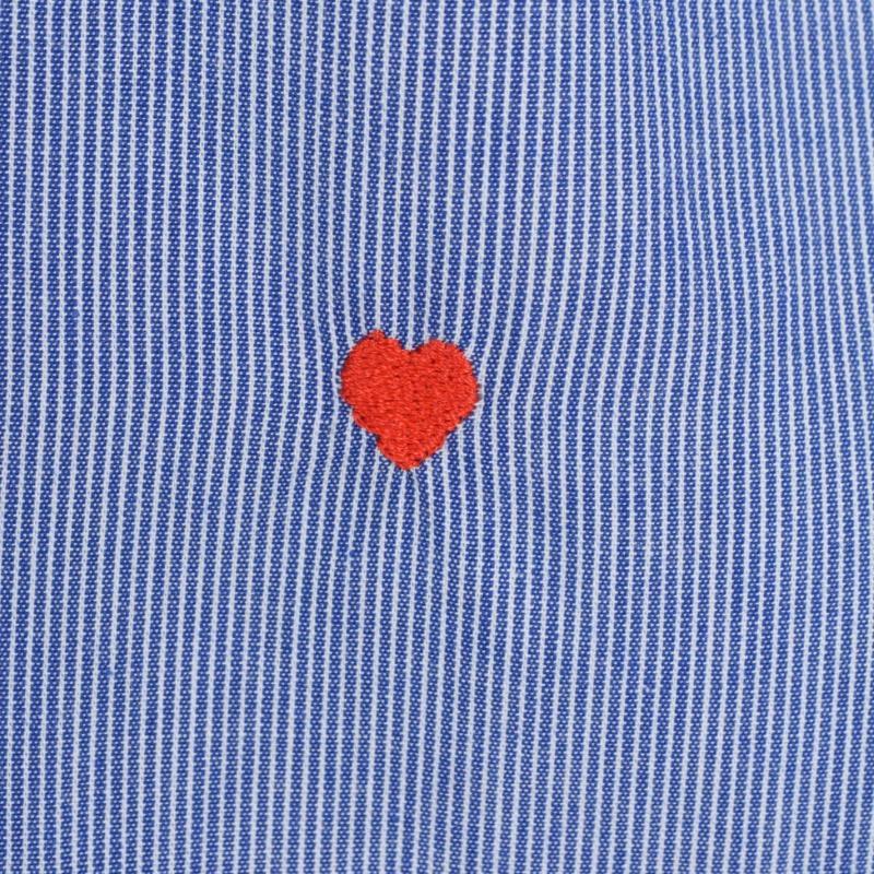 Moschino Sleeved Shirt 9 BBlue/Wht Stp