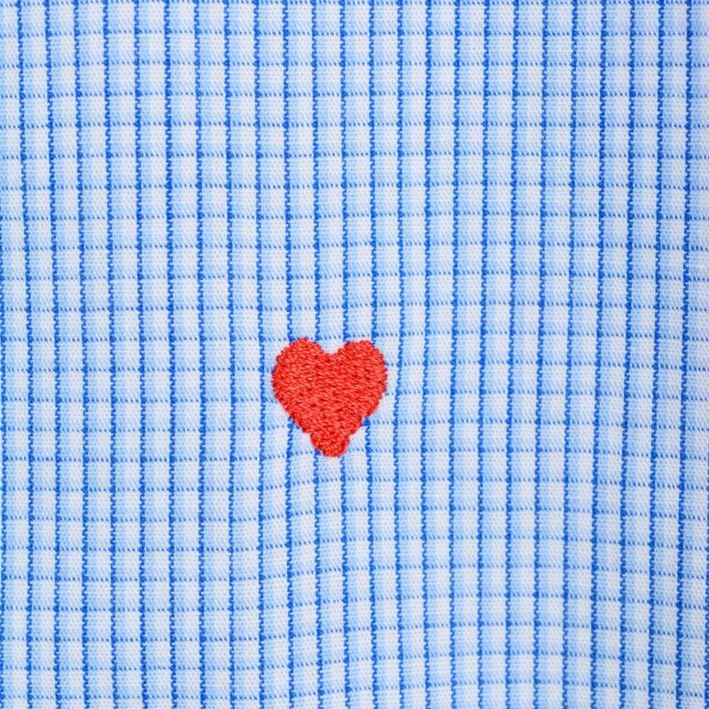 Moschino Long Sleeved Shirt 22 Blue/LBlu/Wh