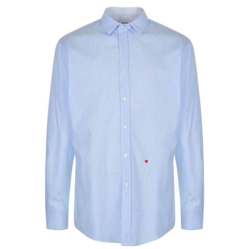 Moschino Long Sleeved Shirt 6 Wht/TBlu Stpe
