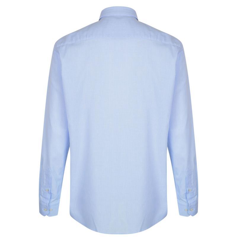 Moschino Long Sleeved Shirt 5 Wht/Blu Chck1